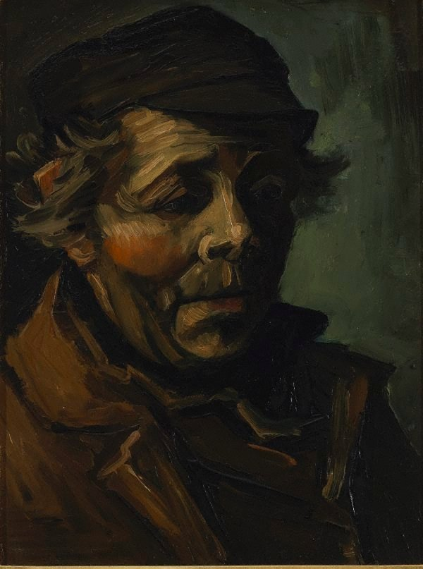 Head of a peasant, (1884) by Vincent van Gogh