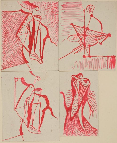 An image of (Four abstract studies) by James Gleeson