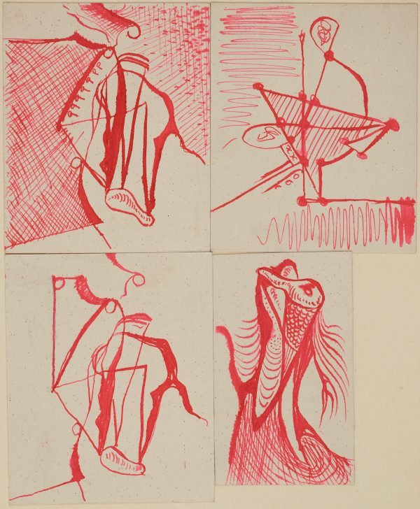 An image of (Four abstract studies)