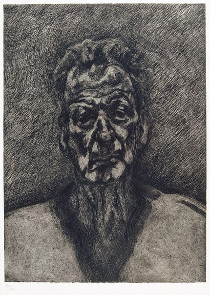 An image of Self portrait: reflection by Lucian Freud