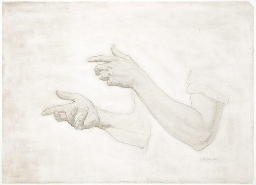 An image of (Study of male hands & arms) by Douglas Dundas