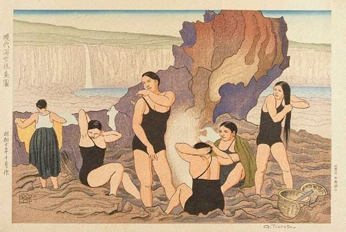An image of Contemporary women divers at rest by TSURUTA Gorô