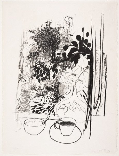 An image of View of the garden by Brett Whiteley