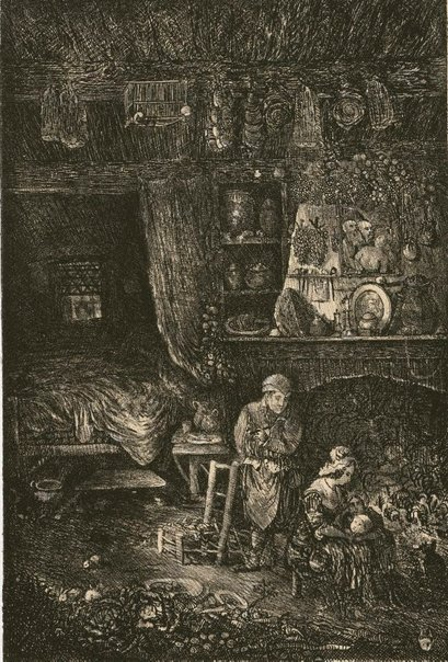 An image of Flemish interior by Rodolphe Bresdin