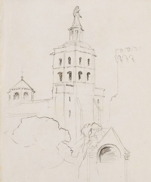 An image of Avignon by Lloyd Rees