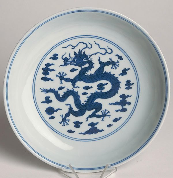 An image of Dish with single dragon