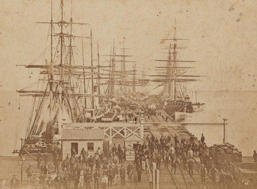 An image of The Railway Pier, Sandridge by Charles Nettleton