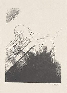 An image of Winged horse by Odilon Redon