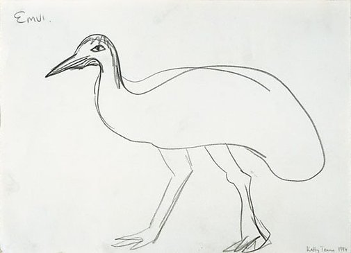 An image of Untitled (Emu) by Kathy Temin