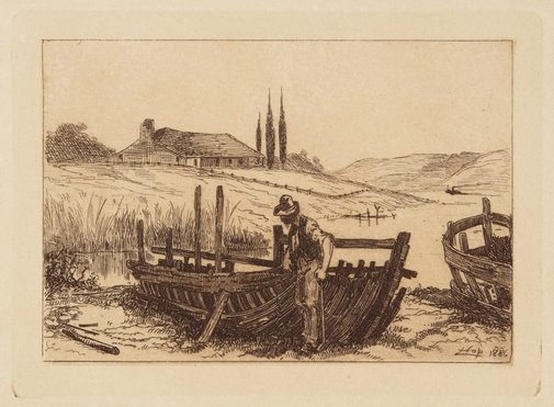 An image of (Old boats) by Livingston Hopkins