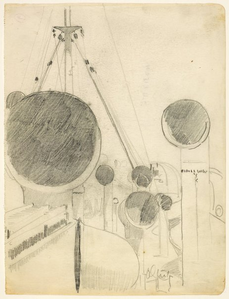 An image of Ship's Ventilators by Arthur Streeton