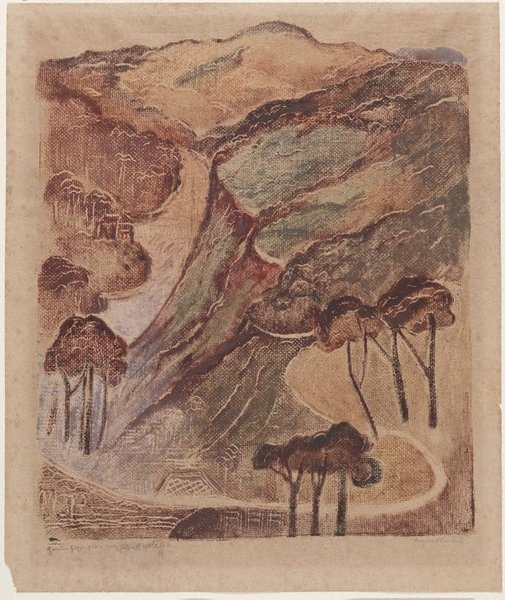 An image of The gorge by Margaret Preston