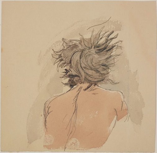 An image of (Back of the head of a male figure) by James Gleeson