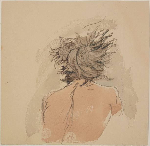 An image of (Back of the head of a male figure)
