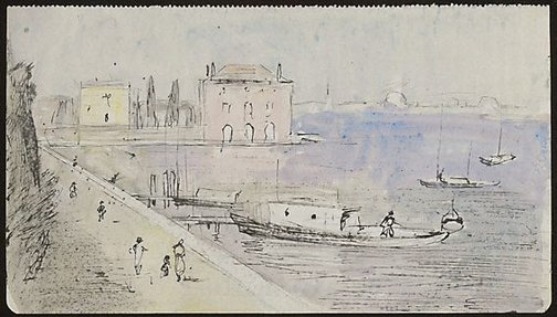 An image of Fondamenta Nuova, Venice by Lloyd Rees