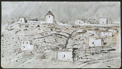 An image of Kástro, Mýkonos by Lloyd Rees