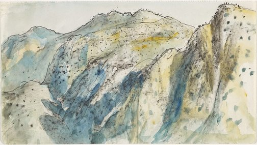 An image of Mountains of Delphi by Lloyd Rees