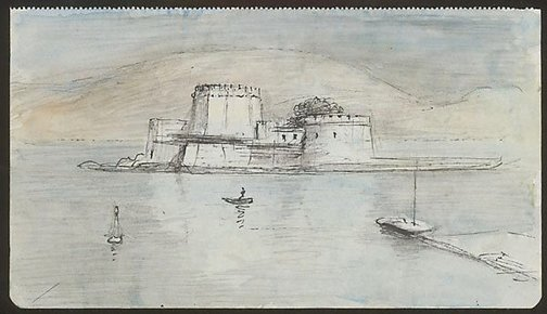 An image of Castel Pasqualigo, Boúrkzi, Nauplion by Lloyd Rees