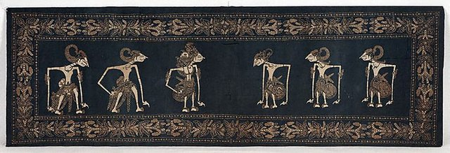 An image of Cloth with design of wayang figures