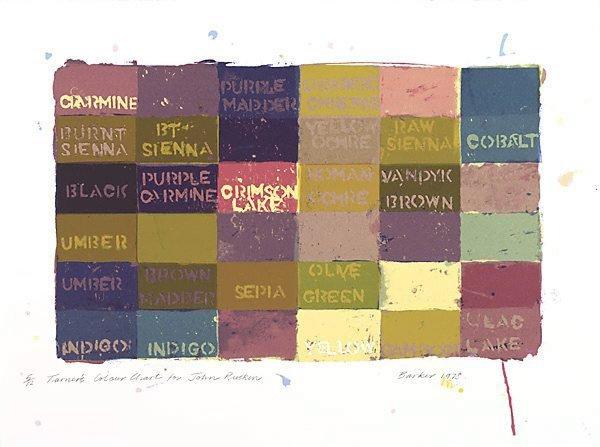 An image of Turner's colour chart for John Ruskin
