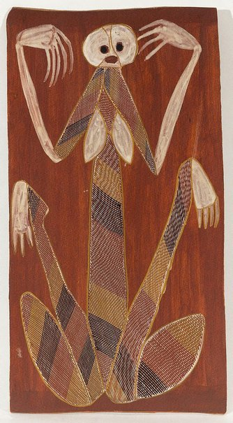 An image of Yawkyawk by John Mawurndjul