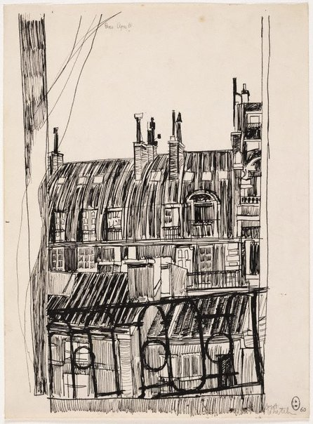 An image of Untitled (Balcony view, Paris) by Brett Whiteley