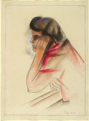 Alternate image of recto: (Female figure) verso: Margel by Frank Hinder