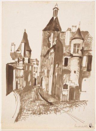 AGNSW collection Brett Whiteley (Street scene, Paris) 1960