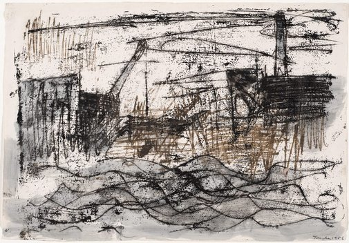 An image of Thames study by Albert Tucker