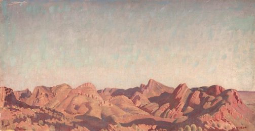 An image of Gosse's Bluff, Central Australia by Arthur Murch