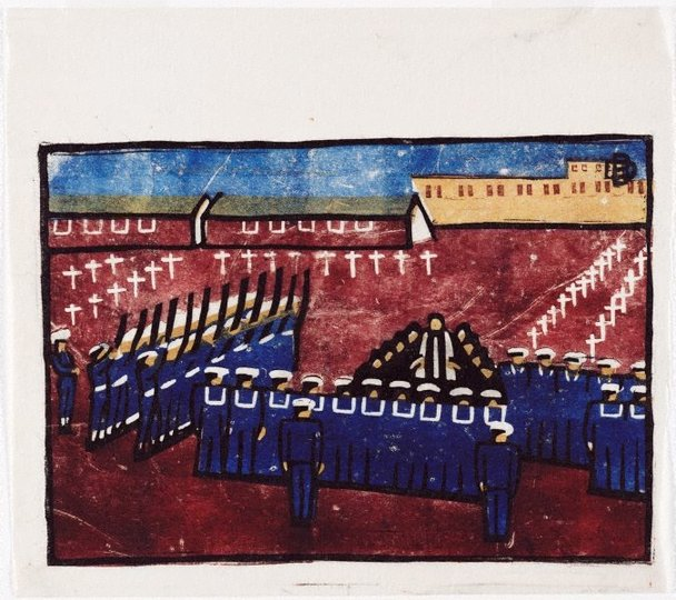 AGNSW collection Dorrit Black Naval funeral circa 1945