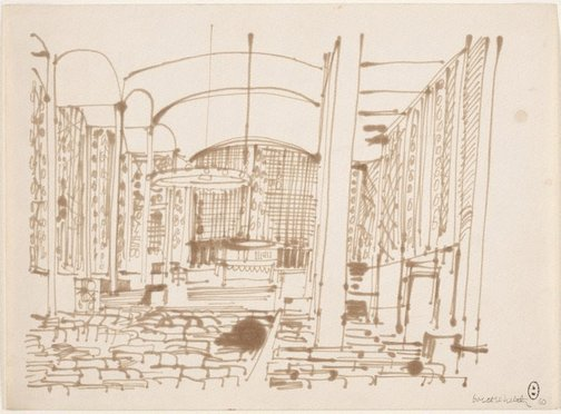 An image of (Building interior, Paris) by Brett Whiteley
