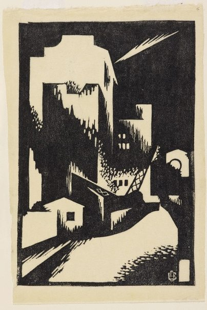 An image of Nocturne, Wynyard Square by Dorrit Black