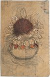 Alternate image of recto: Woodblock for 'Banksia, Kurrajong pods, waratah in round vase' verso: Woodblock for 'Waratah round vase' by Margaret Preston