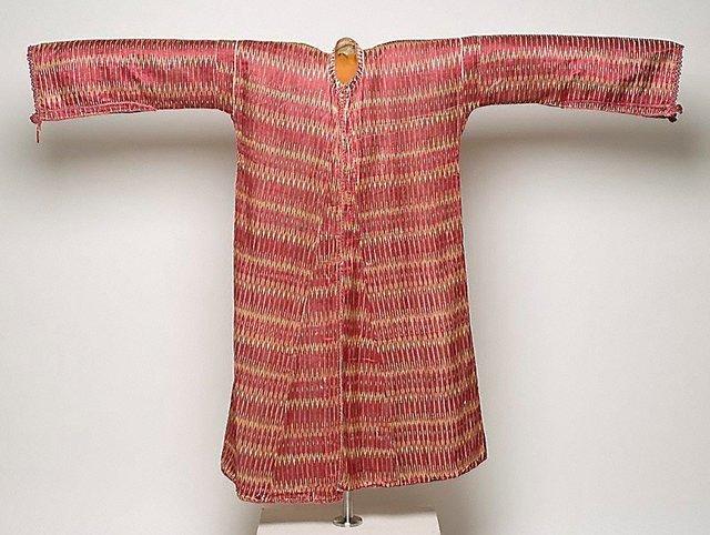 An image of Man's silk ikat coat
