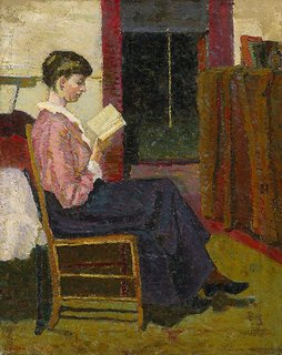 The reader, (1916) by Grace Cossington Smith