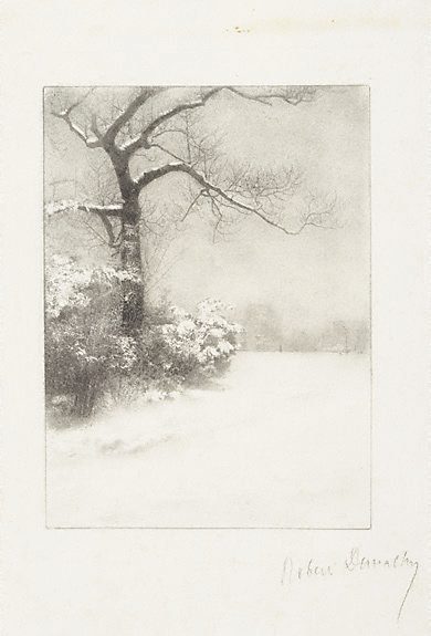An image of Untitled (snow scene) by Robert Demachy