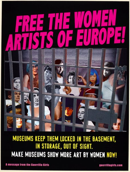 An image of Free the women artists of Europe by Guerrilla Girls