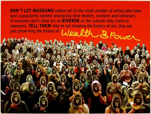An image of History of wealth and power by Guerrilla Girls