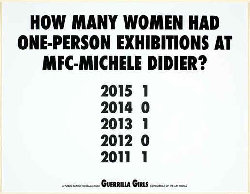 Alternate image of How many women had solo shows at NYC museums? (recount) by Guerrilla Girls