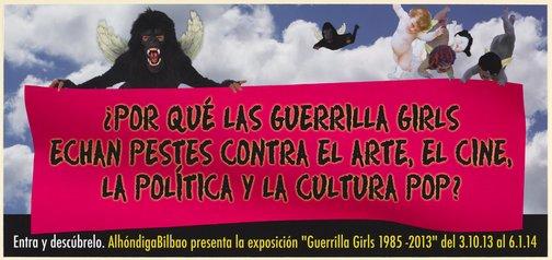 An image of ¿Por Qué las Guerrilla Girls Echan Pestes Contra el Arte, el Cine, la Política y la Cultura Pop? by Guerrilla Girls
