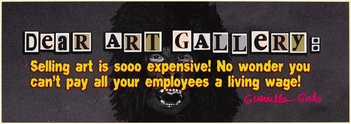 An image of Dear Art Gallery Billionaire by Guerrilla Girls