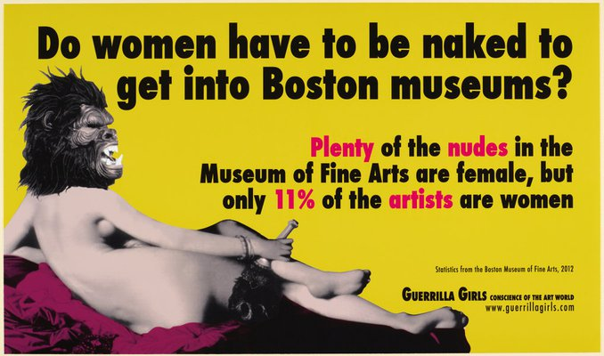 Alternate image of Do women have to be naked to get into Boston museums? by Guerrilla Girls