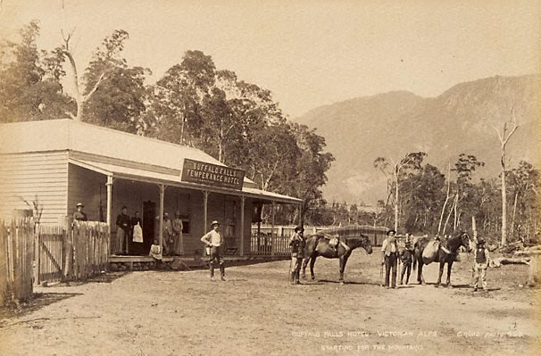 An image of The Buffalo Falls Hotel, Victorian Alps. Starting for the mountains