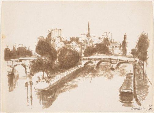 An image of (Seine view, Paris) by Brett Whiteley
