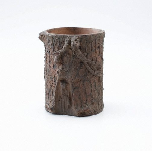 An image of Brush pot by Shiwan ware