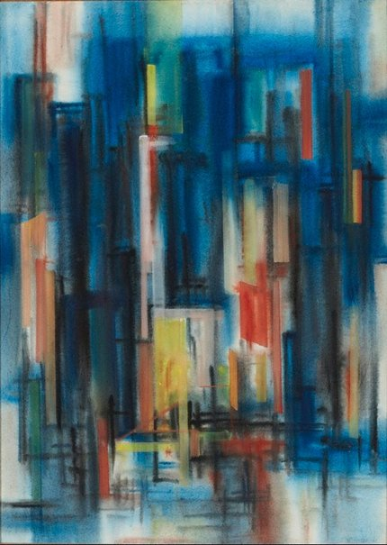 An image of (Abstract painting) by Frank Hinder