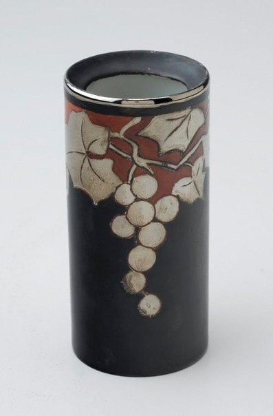 An image of Vase with grape design by Ada Ione Newman