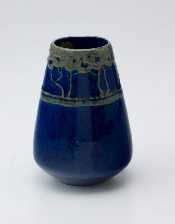An image of Vase with raised tree design