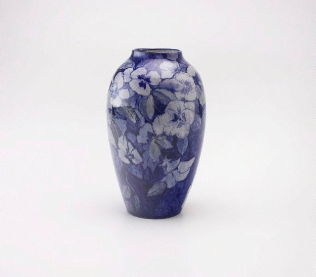 An image of Vase with pansy design